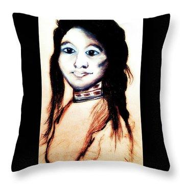 Sha Wen Ne Gun. 1857. Ojibwe Throw Pillow by Ayasha Loya