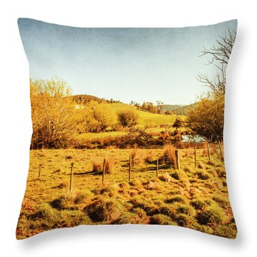 Shabby Country Farmland Throw Pillow