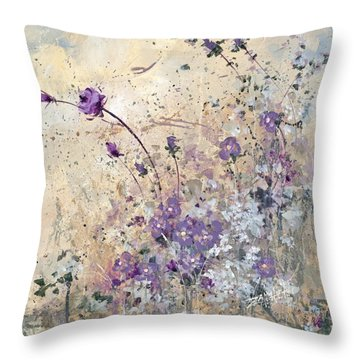 Shabby Eleven Throw Pillow by Laura Lee Zanghetti