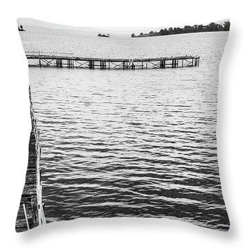 Shabby Nautical Style Throw Pillow