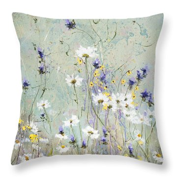 Shabby Ten Throw Pillow by Laura Lee Zanghetti