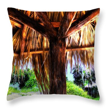 Shade On The Beach Throw Pillow
