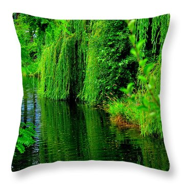 Shade Tree Throw Pillow by Greg Patzer