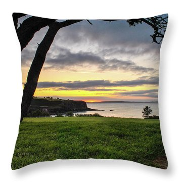 Shaded Sunrise Throw Pillow