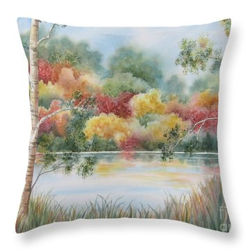 Shades Of Autumn Throw Pillow by Deborah Ronglien