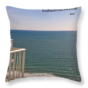 Shades Of Blue Throw Pillow by Rhonda McDougall