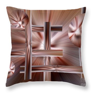 Shades Of Coffee Throw Pillow