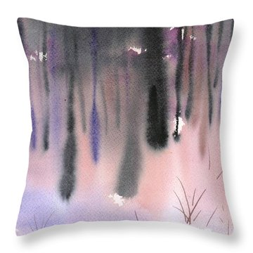 Shades Of Forest Throw Pillow