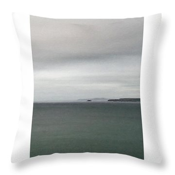 Throw Pillow featuring the digital art Shades Of Grey by Julian Perry