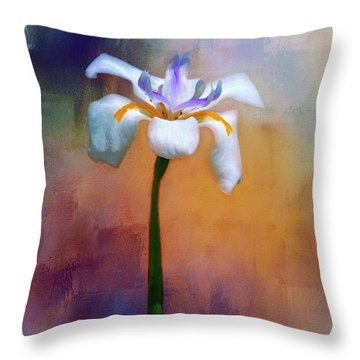 Throw Pillow featuring the photograph Shades Of Iris by Carolyn Marshall