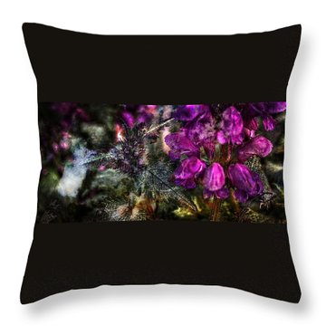 Shades Of Purple  Throw Pillow by Thom Zehrfeld