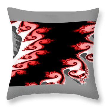 Shades Of Red And Gray Throw Pillow