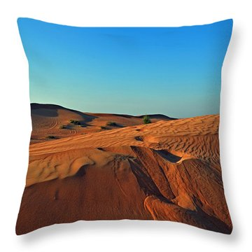 Shades Of Sand Throw Pillow by Corinne Rhode