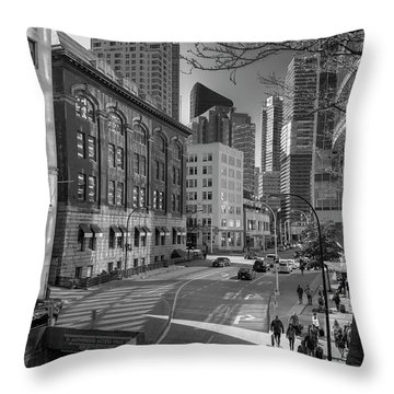 Throw Pillow featuring the photograph Shades Of The City by Ross G Strachan