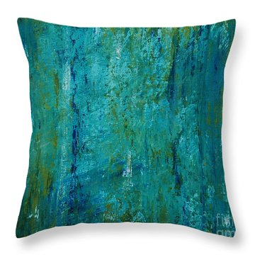 Shades Of The Sea Throw Pillow