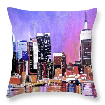 Shades Of Twilight Throw Pillow by Donna Blossom