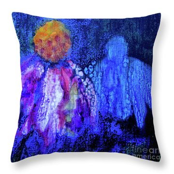 Shadow Abstract Bloom Throw Pillow