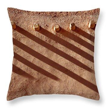 Shadow Beams Throw Pillow