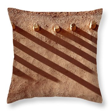 Shadow Beams Throw Pillow