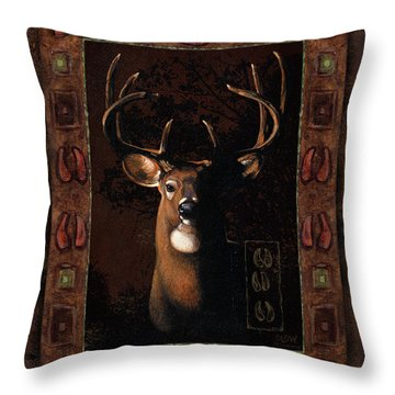 Shadow Deer Throw Pillow by JQ Licensing