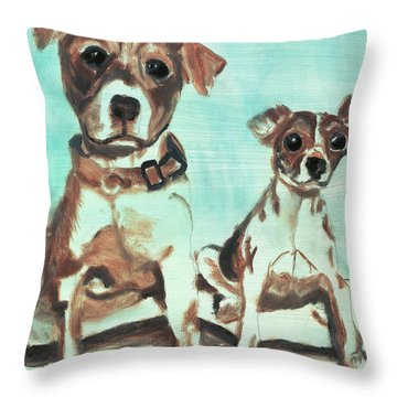 Shadow Dogs Throw Pillow by Terry Lewey