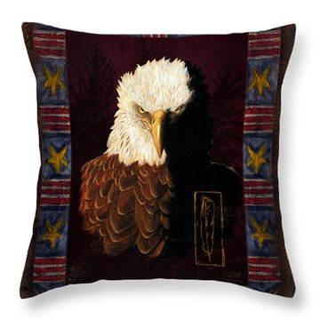 Shadow Eagle Throw Pillow by JQ Licensing