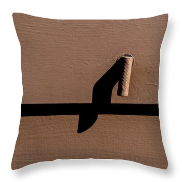 Throw Pillow featuring the photograph Shadow Handle by Britt Runyon