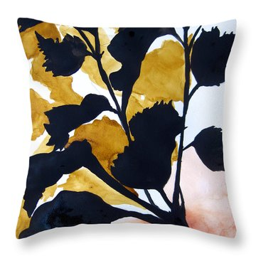 Shadow Hibiscus Throw Pillow