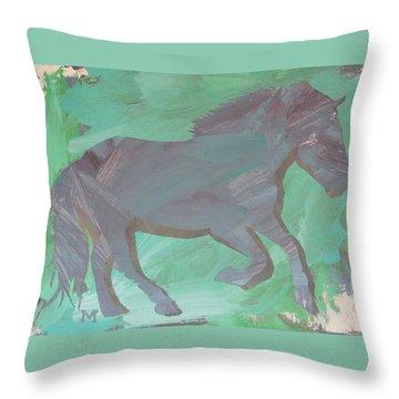 Shadow Horse Throw Pillow