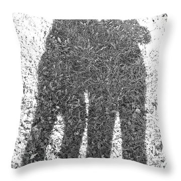 Shadow In The Meadow Bw Throw Pillow