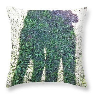 Shadow In The Meadow Throw Pillow