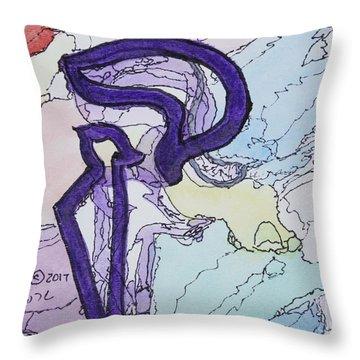 Shadow Kuf Throw Pillow