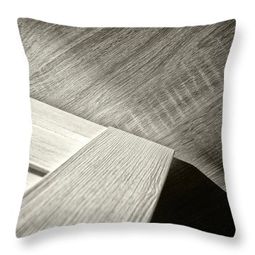 Throw Pillow featuring the photograph Shadow Light Door Abstract Two by John Williams