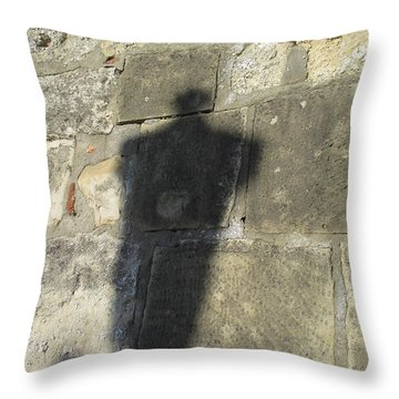 Shadow Of A Monument Throw Pillow