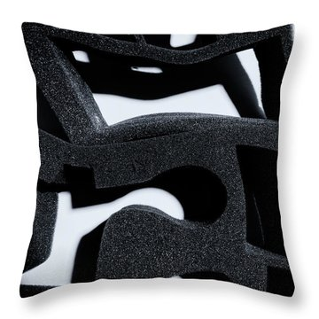 Throw Pillow featuring the photograph Shadow Of Foam Abstract One by John Williams