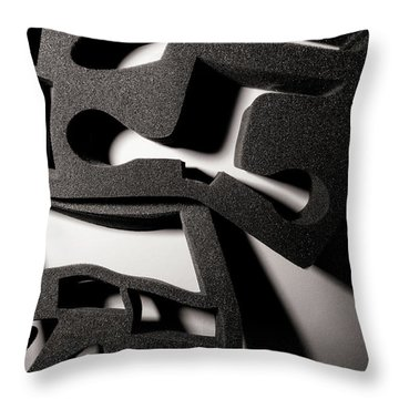 Throw Pillow featuring the photograph Shadow Of Foam Abstract Two by John Williams
