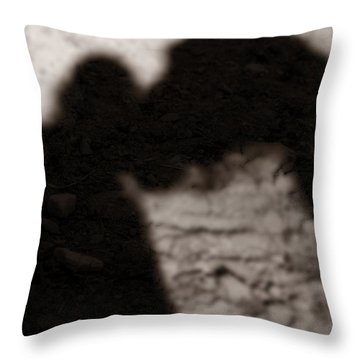 Shadow Of Horse And Girl - Vertical Throw Pillow by Angela Rath