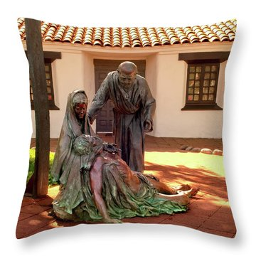 Shadow Of The Cross Detail Throw Pillow