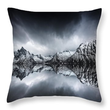 Throw Pillow featuring the photograph Shadow Of The Day by Philippe Sainte-Laudy