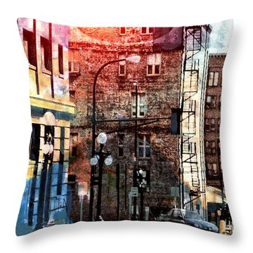 Shadow On St. Paul Throw Pillow