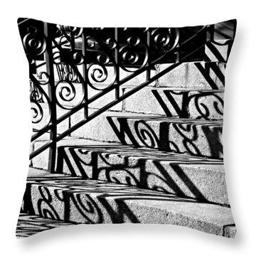 Shadow On The Rotunda Stairs Throw Pillow