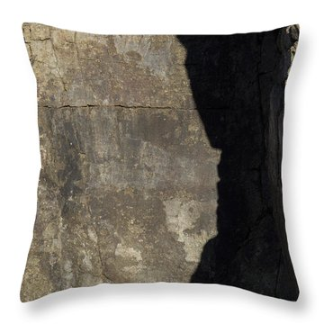 Shadow On The Stone Throw Pillow