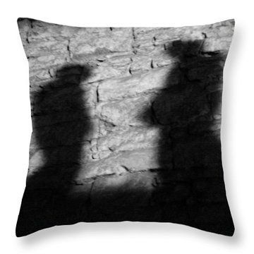 Shadow On The Wall Throw Pillow by Christine Till