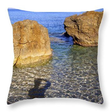 Shadow Pelion Greece Throw Pillow