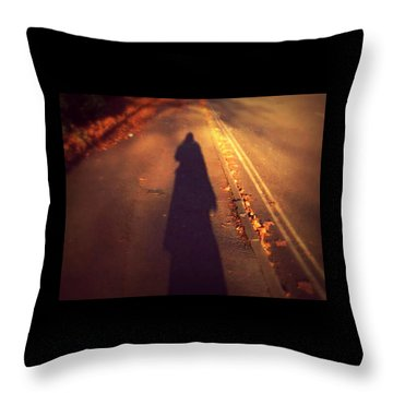 Shadow Throw Pillow by Persephone Artworks