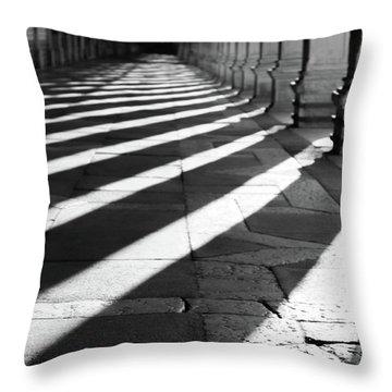 Shadow Play - Venice, Italy Throw Pillow