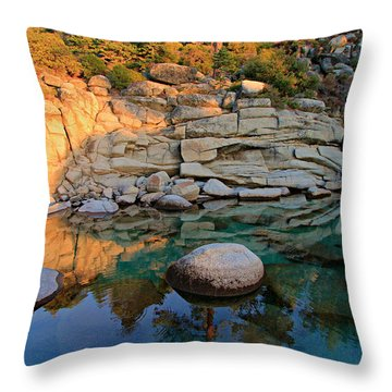 Shadow Selfie Throw Pillow