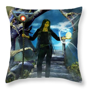 Throw Pillow featuring the digital art Shadow Walker by Shadowlea Is