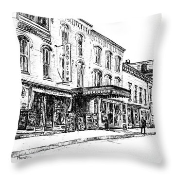 Shadowland Theater Throw Pillow by Monica Cohen