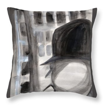 Shadowman Throw Pillow